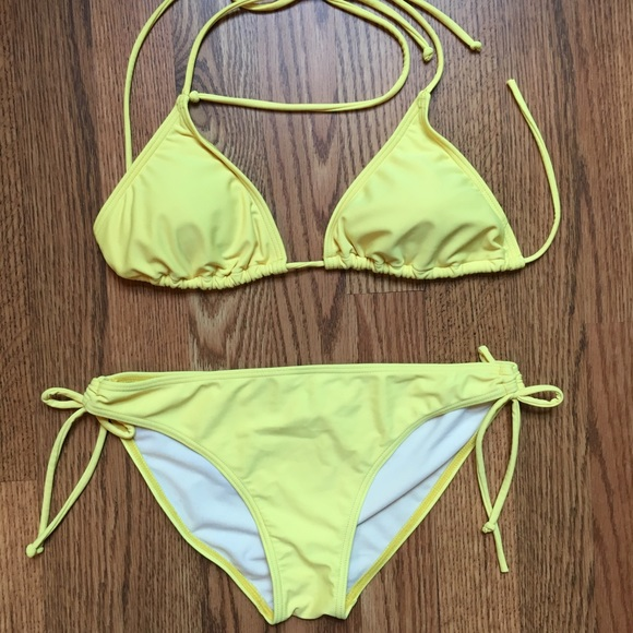 Other - Swim suit in bright yellow